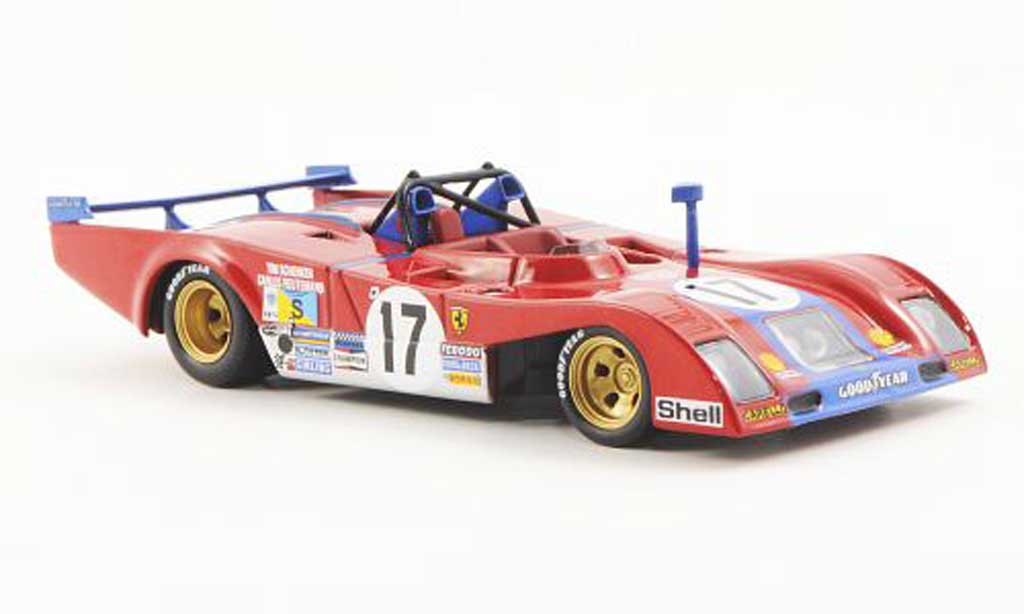 Ferrari 312 P 1/43 Ferrari Racing Collection 24h Le Mans C.Reutemann / T.Schenken 1973 miniature