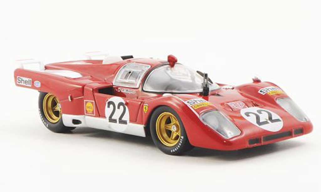 Ferrari 512 M 1/43 Ferrari Racing Collection 300km Imola A.Merzario 1971 miniatura