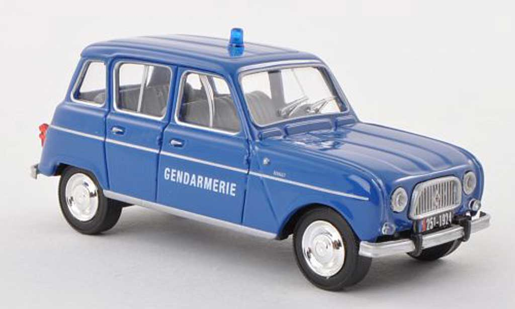 Miniature Renault 4L Gendamerie police (F)  1964 Solido. Renault 4L Gendamerie police (F)  1964 miniature 1/43