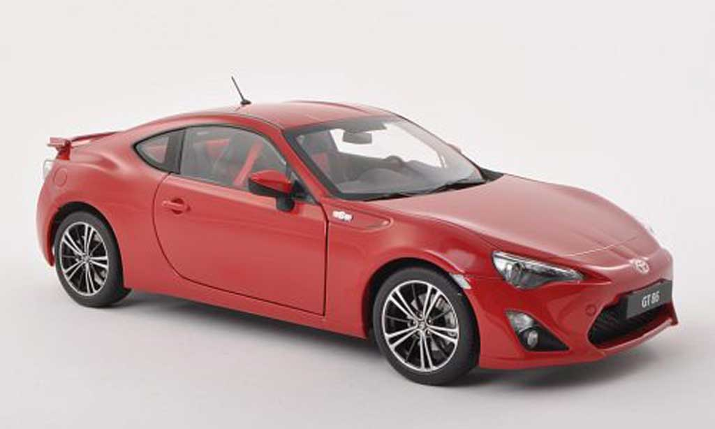 Toyota 86 2012 1/18 Autoart 2012 GT (Europa Version/LHD) black-red diecast model cars