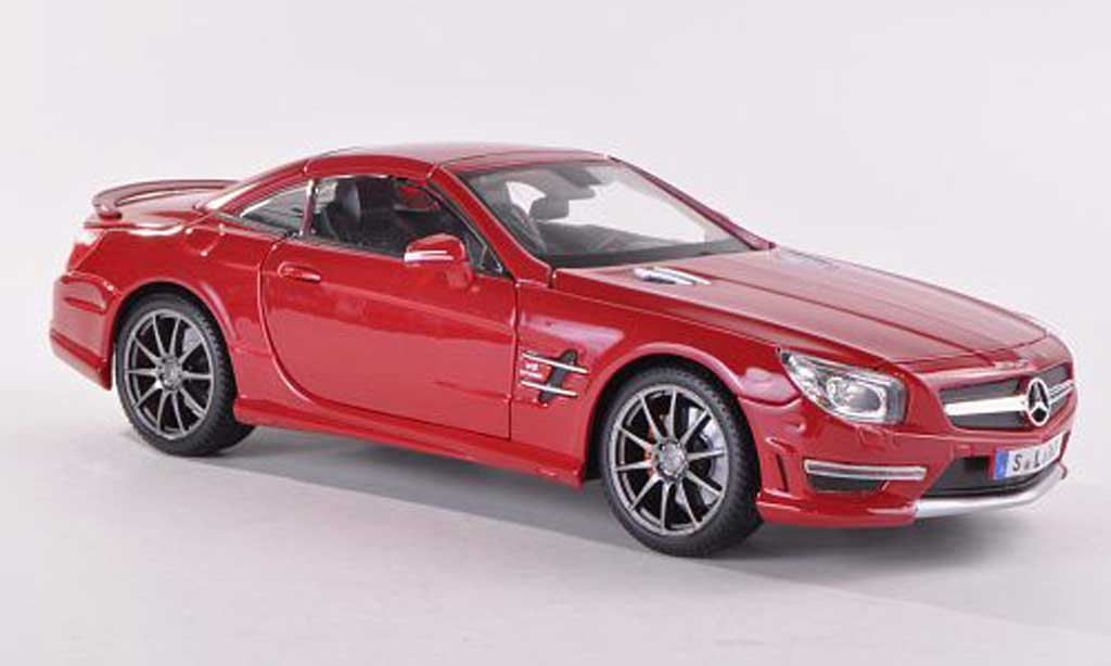 Mercedes Classe SL 63 1/18 Maisto 63 AMG (R231) red 2012 diecast model cars