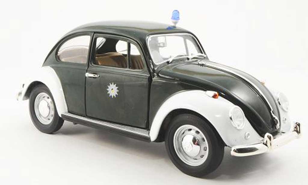 Volkswagen Kafer 1/18 Yat Ming Polizei Stuttgart grun/blanche miniature