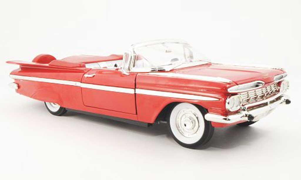 Chevrolet Impala 1959 1/18 Yat Ming Convertible rouge miniature