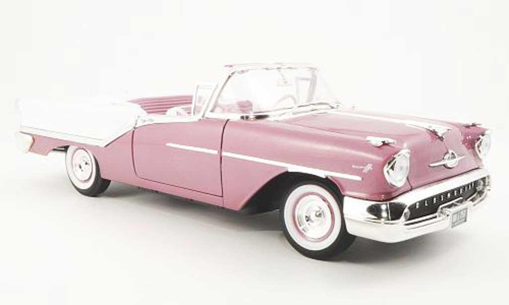Oldsmobile Super 88 1/18 Yat Ming Convertible flieder/blanche 1957 miniature