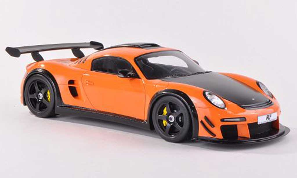 Ruf CTR 3 1/18 Spark Evo orange/carbon 2012 miniature