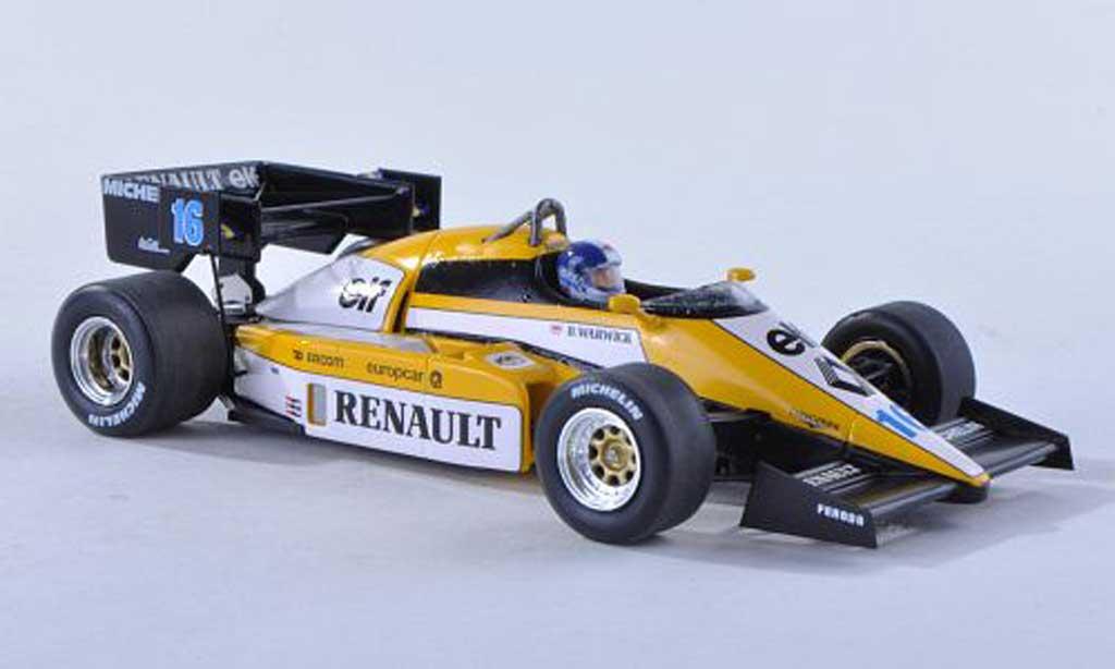 Renault F1 1984 1/43 Spark 1984 RE50 No.16 GP Grande-Bretagne D.Warwick miniature