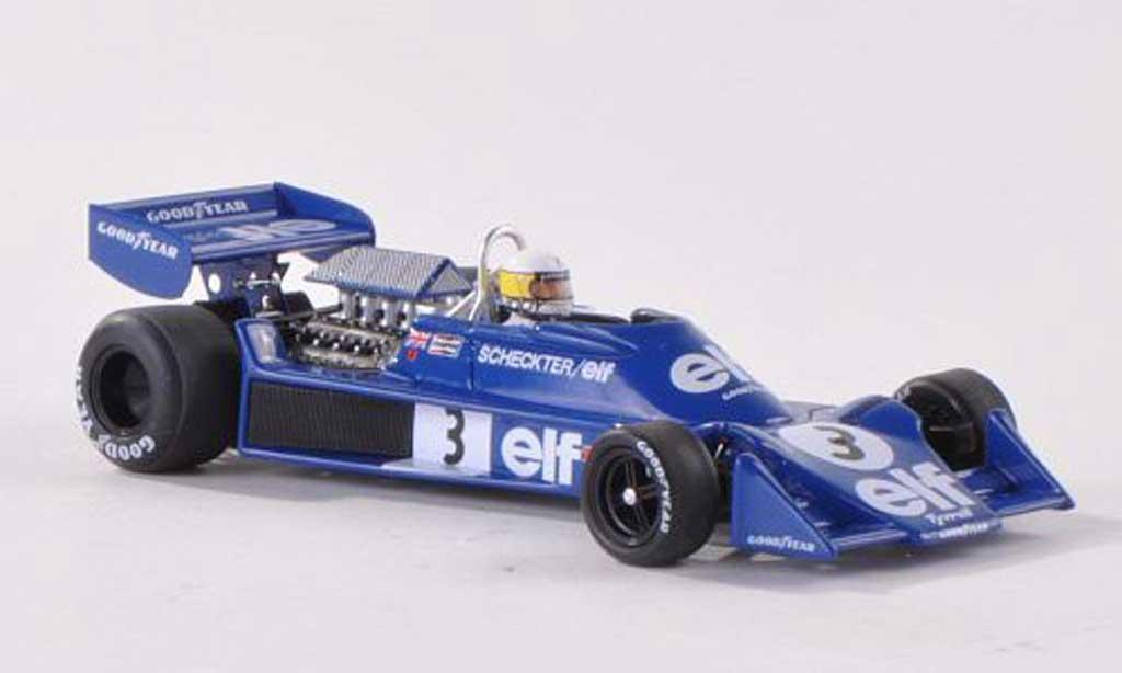 Tyrrell 7 1/43 Spark No.3 elf GP Spanien 196 J.Scheckter miniature