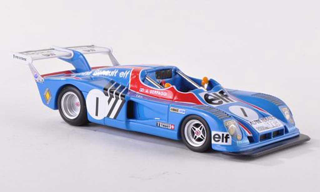 Alpine A441 1/43 Spark No.1 A.Serpaggi Champion 2LGR6 1974 diecast model cars