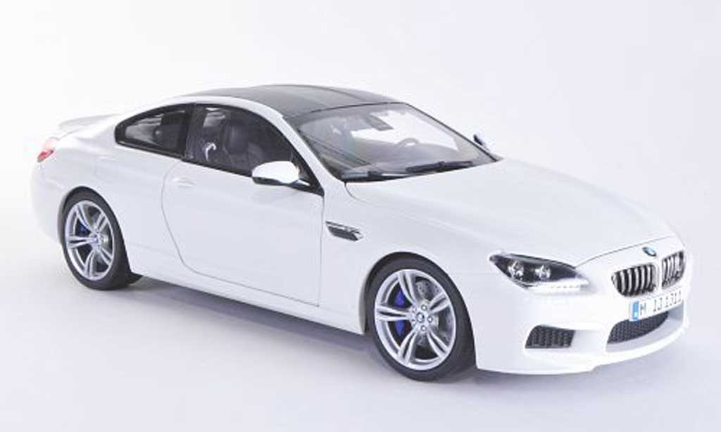 Bmw M6 F13 1/18 Paragon blanche/carbon 2012 miniature