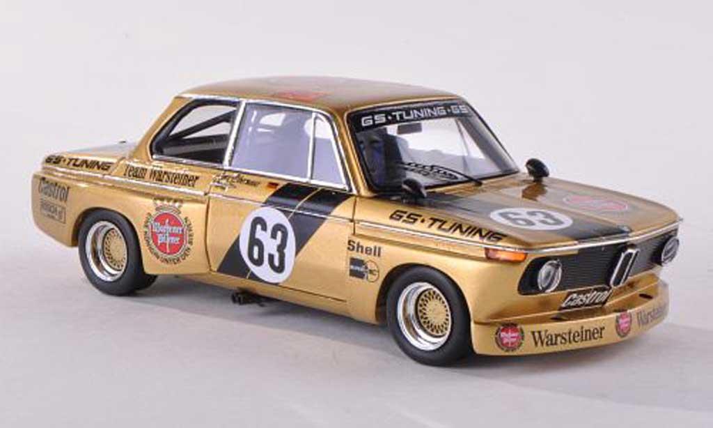 Bmw 2002 Tii 1/43 Spark No.63 Warsteiner DRM  Norisring  1975 J.Obermoser miniature
