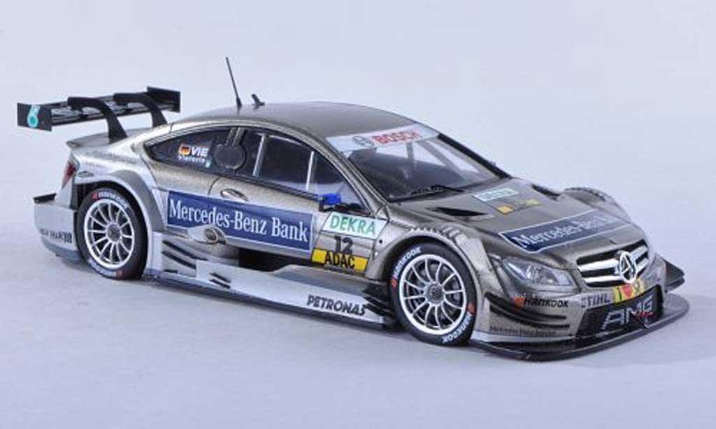 Mercedes Classe C DTM 1/43 Spark C-Coupe No.12 -Benz banque -Saison 2012 C.Vietoris miniature