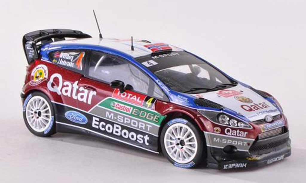 Ford Fiesta WRC 1/43 Spark  WRC No.4 M-Sport/Qatar Rally Monte Carlo  2013 M.Otsberg/J.Andersson miniature