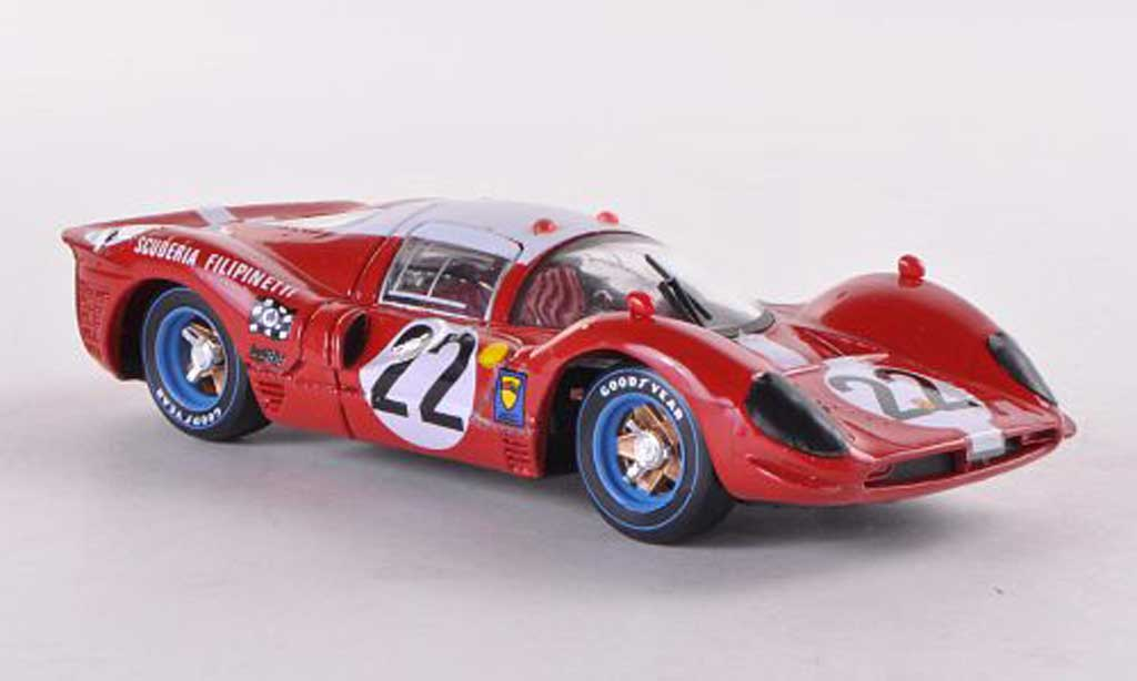Ferrari 412 1/43 Brumm P No.22 Scuderia Filipinetti 24h Le Mans 1967 Scuderia Filipinetti diecast model cars