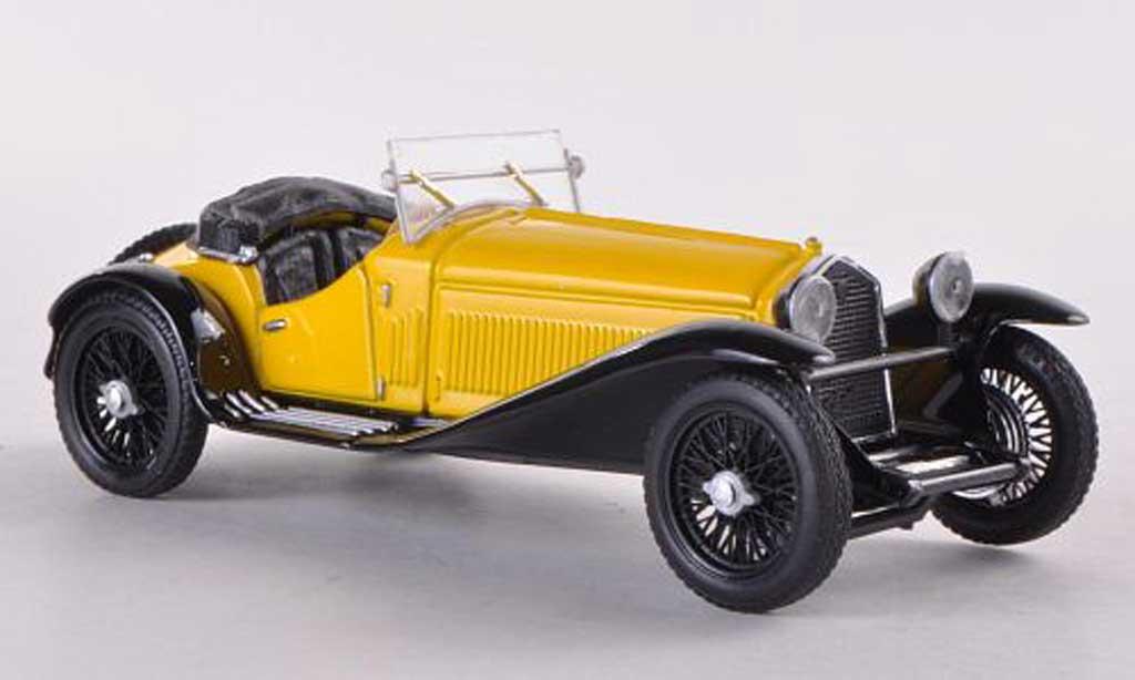 Alfa Romeo 1750 1/43 Brumm jaune Lupin shooting miniature