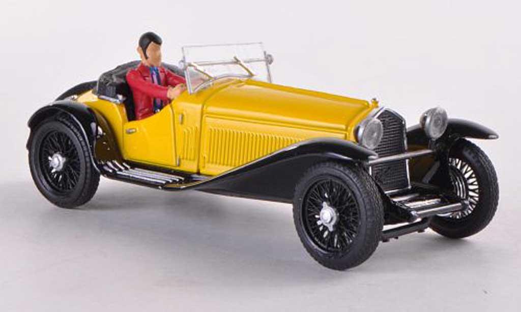Alfa Romeo 1750 1/43 Brumm jaune Lupin driving miniature