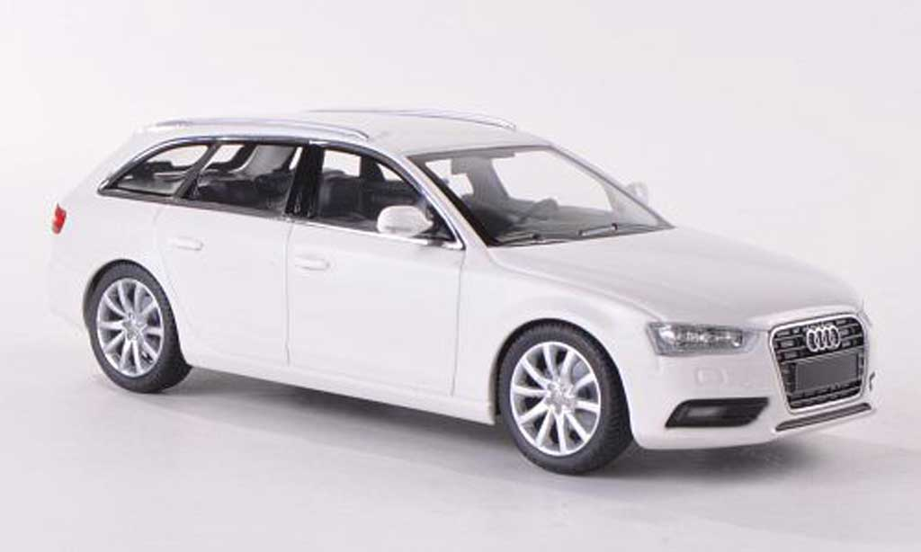 audi a4 avant miniature blanche 2011 minichamps 1 43 voiture. Black Bedroom Furniture Sets. Home Design Ideas