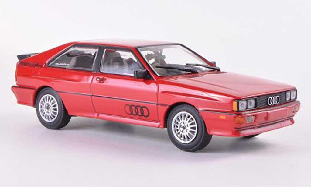 Audi Quattro 1/43 Minichamps rouge  1981 miniature