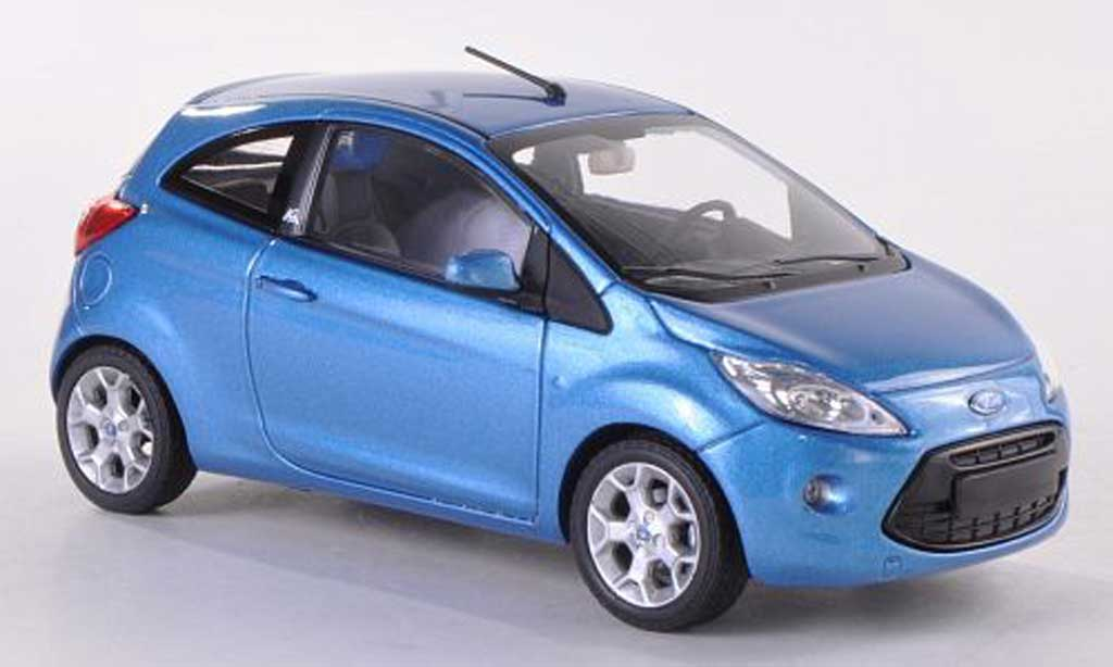 ford ka miniature ii bleue 2009 minichamps 1 43 voiture. Black Bedroom Furniture Sets. Home Design Ideas
