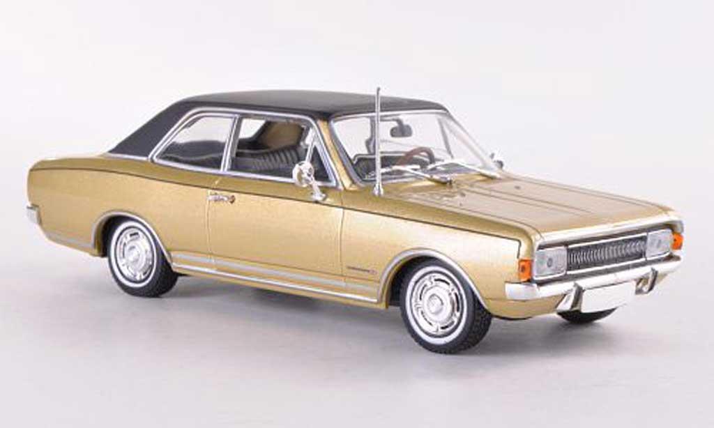 Opel Commodore A 1/43 Minichamps gold/noire 1966 miniature