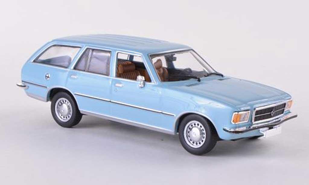 Opel Rekord 1/43 Minichamps D Caravan bleue 1975 miniature