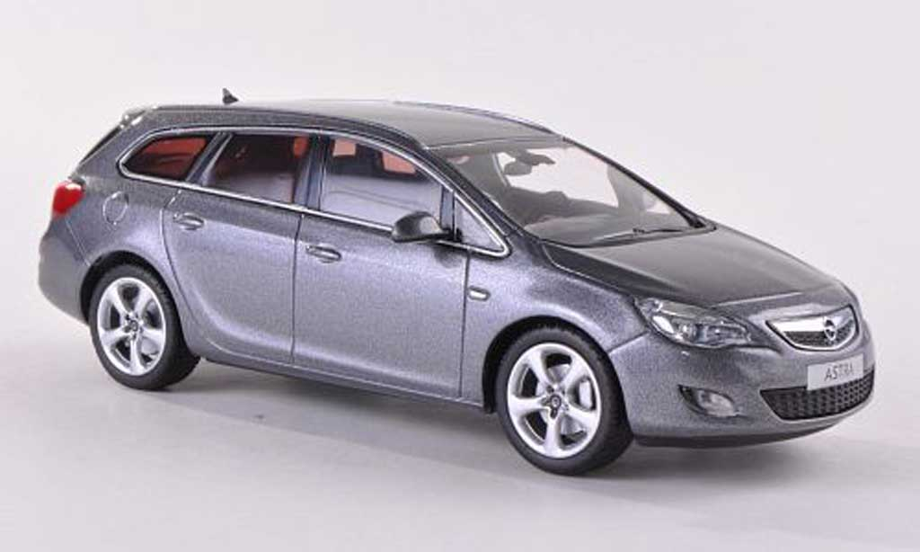 Opel Astra 1/43 Minichamps J Sports Tourer grise 2010 miniature