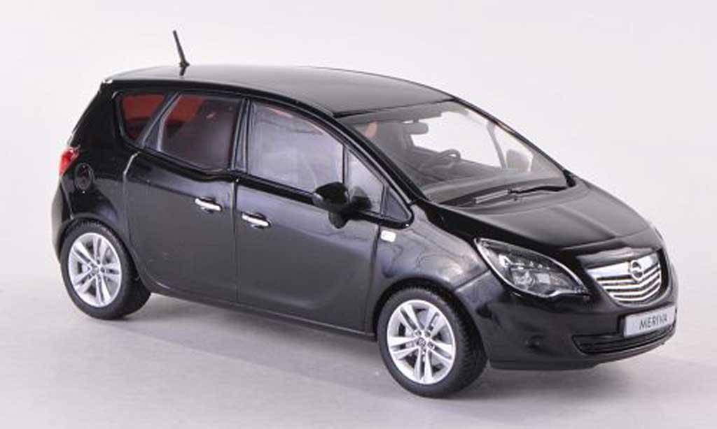 opel meriva b schwarz 2010 minichamps modellauto 1 43. Black Bedroom Furniture Sets. Home Design Ideas