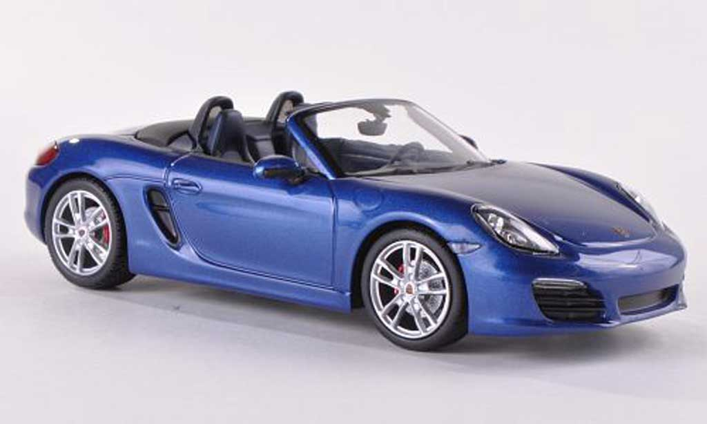 Porsche Boxster 1/43 Minichamps S (981) blue 2012 diecast model cars