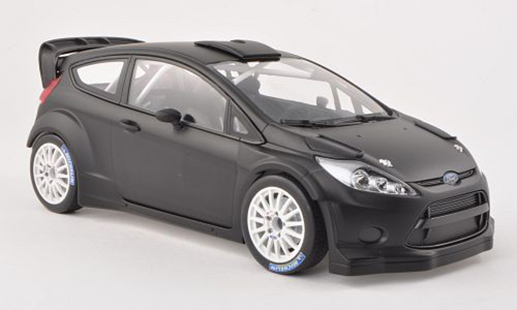 Ford Fiesta WRC 1/18 Minichamps noire Plain Body Version 2011 miniature
