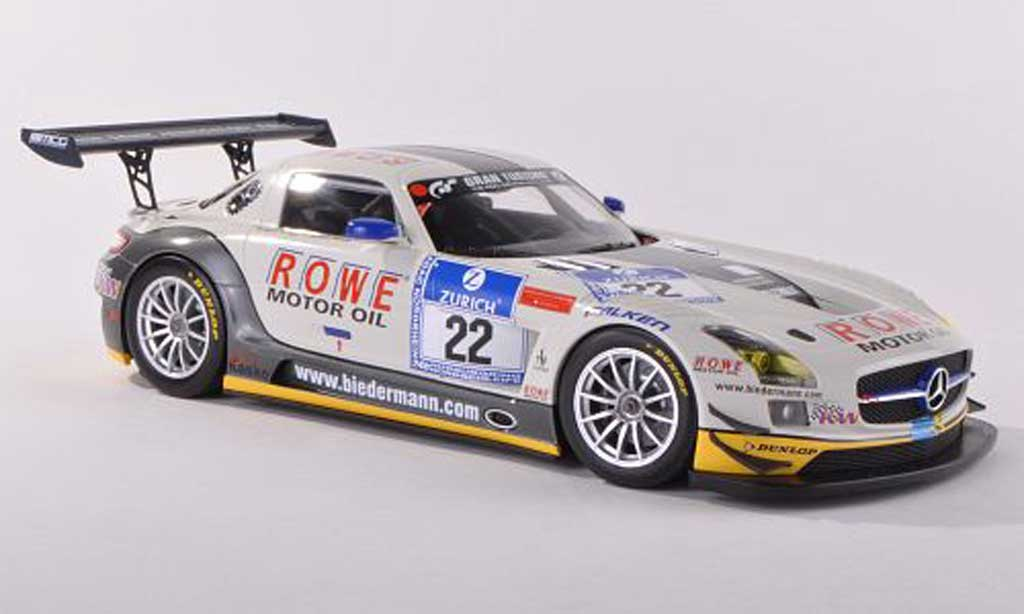 Mercedes SLS 1/18 Minichamps AMG GT3 No.22 Rowe Racing 24h Nuerburgring  2012 Graf/Jager/Roloff/Seyffarth miniature