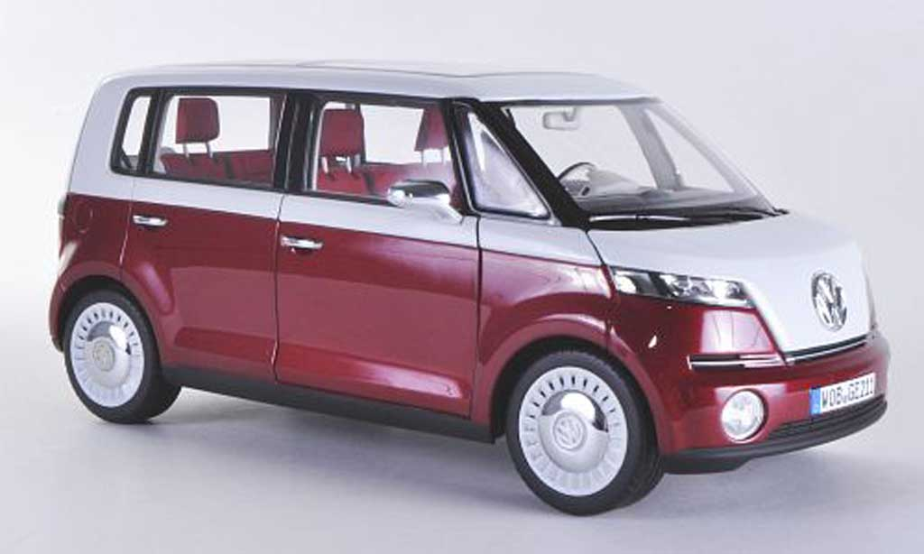 Volkswagen Bulli 1/18 Norev Concept rouge/blanche Autosalon Genf 2011 miniature