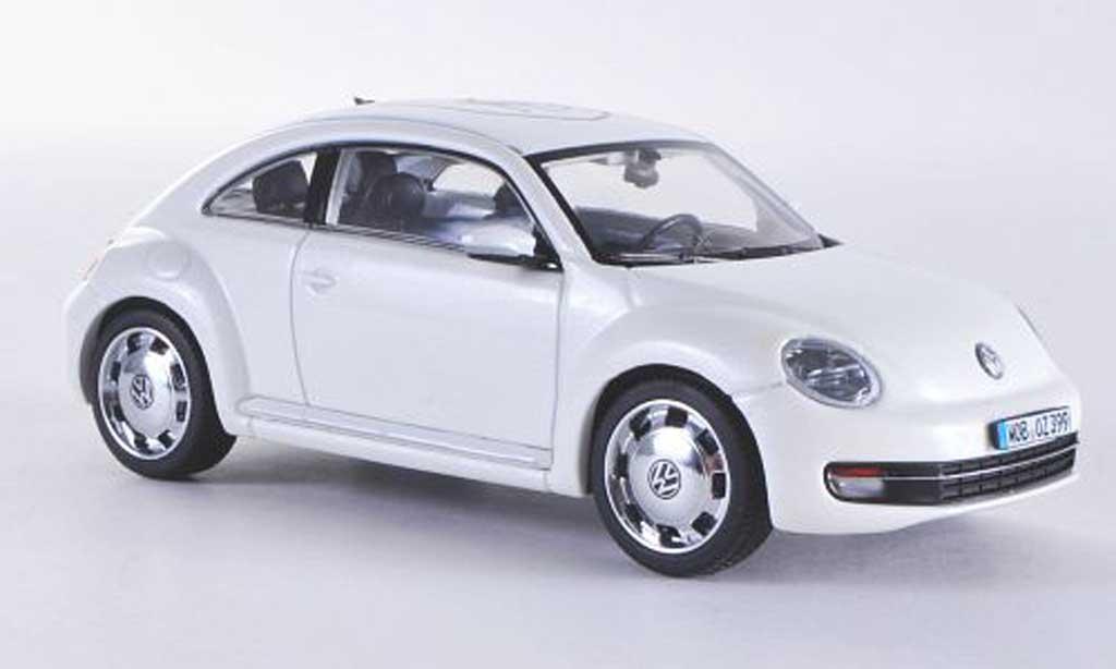 Volkswagen Beetle 1/43 Schuco white Wolfsburg 2011 diecast