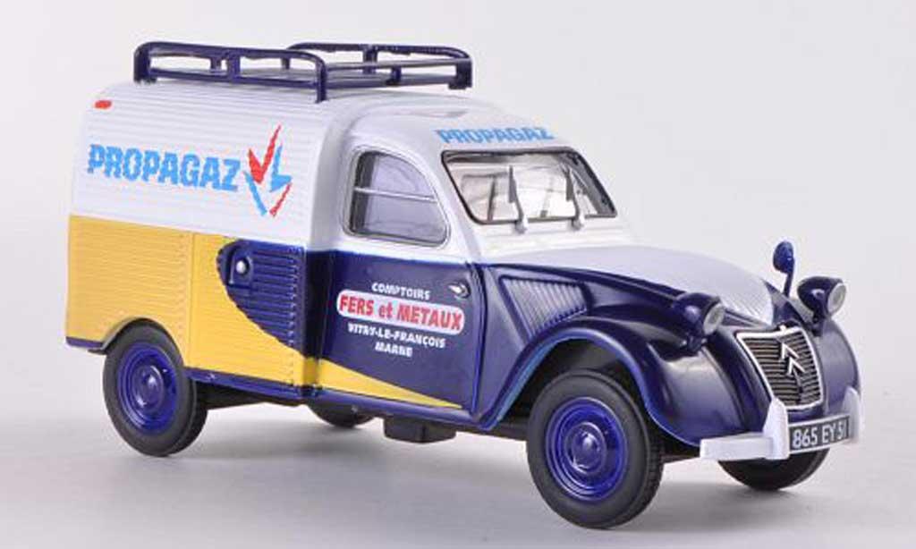 Citroen 2CV 1/43 Eligor AZU Propagaz miniature