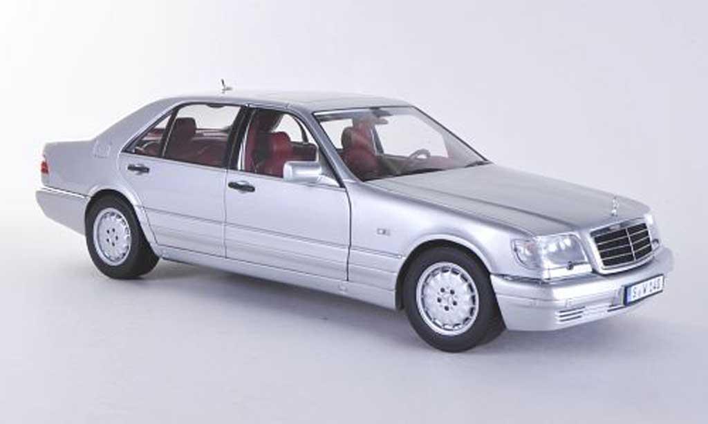 Mercedes S 320 1/18 Norev (W140) grise 1994 miniature