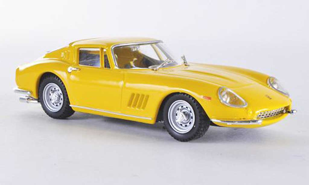 ferrari 275 miniature coupe jaune gtb 4 best 1 43 voiture. Black Bedroom Furniture Sets. Home Design Ideas