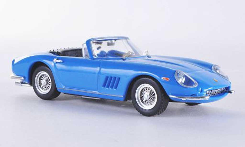 Ferrari 275 1/43 Best GTB/4 Spider bleu Steve Mc Queen miniature