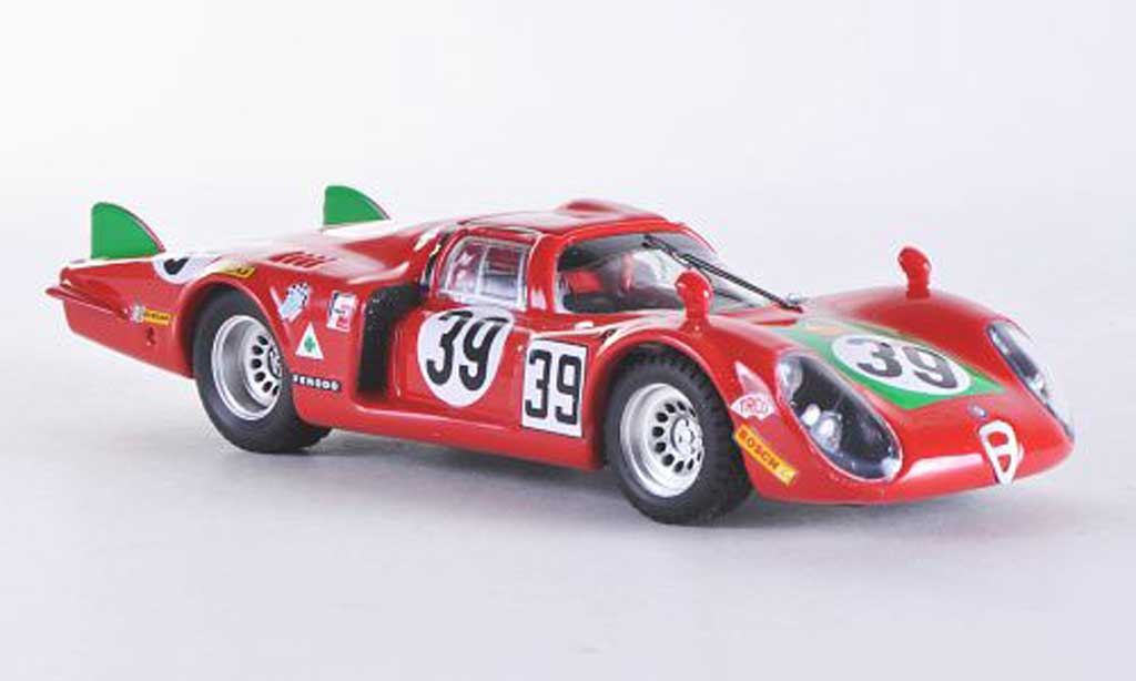 Alfa Romeo 33.2 1968 1/43 Best Coda Lunga Le Mans No.39 Giunti/Galli miniature