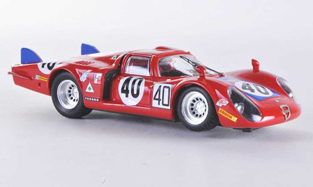 Alfa Romeo 33.2 1968 1/43 Best Coda Lunga Le Mans No.40 Casoni/Biscaldi miniature