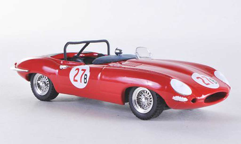 Jaguar E-Type 1961 1/43 Best 1961 E Spyder Riverside No.27B Krause miniature