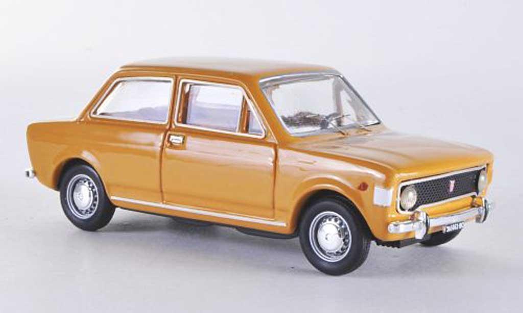 Fiat 128 2 turig gelb 1969 Rio. Fiat 128 2 turig gelb 1969 modellauto 1/43