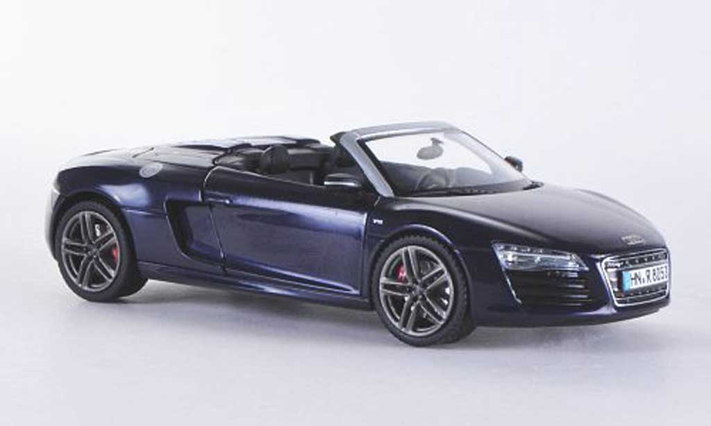 audi r8 spyder miniature bleu 2012 schuco 1 43 voiture. Black Bedroom Furniture Sets. Home Design Ideas