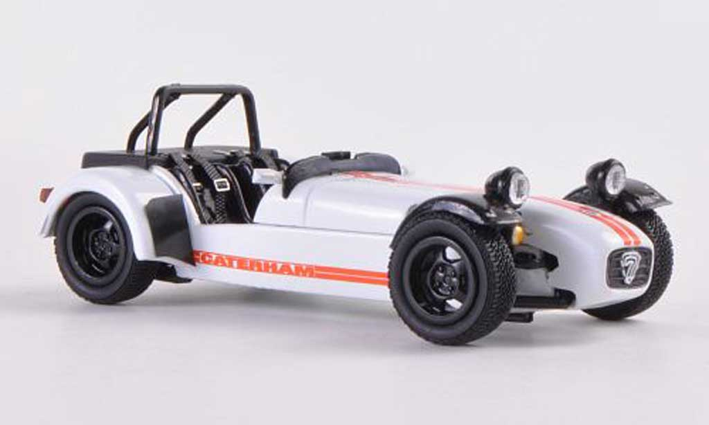 Caterham Super Seven 1/43 Kyosho JPE blanche/orange miniature