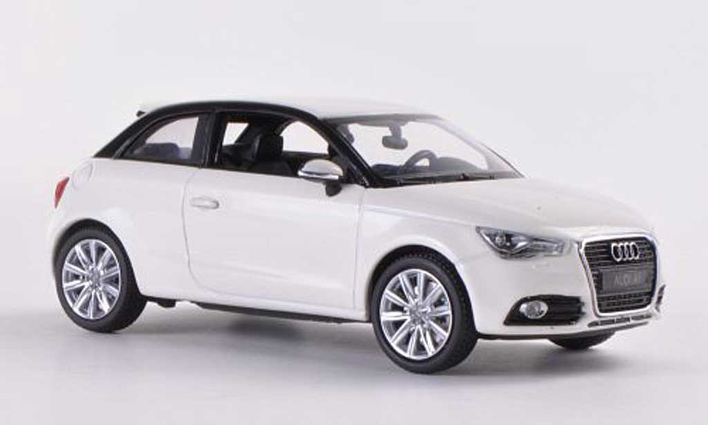 audi a1 miniature blanche kyosho 1 43 voiture. Black Bedroom Furniture Sets. Home Design Ideas