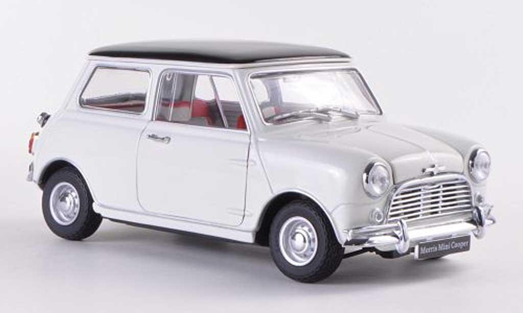 Austin Mini Cooper S 1/18 Kyosho MkI 1275S blanche/noire RHD miniature