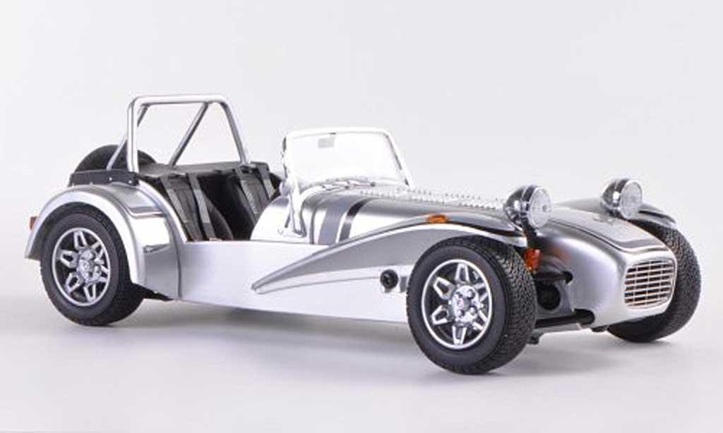 Caterham Super Seven 1/18 Kyosho grise/grise/noire RHD  miniature