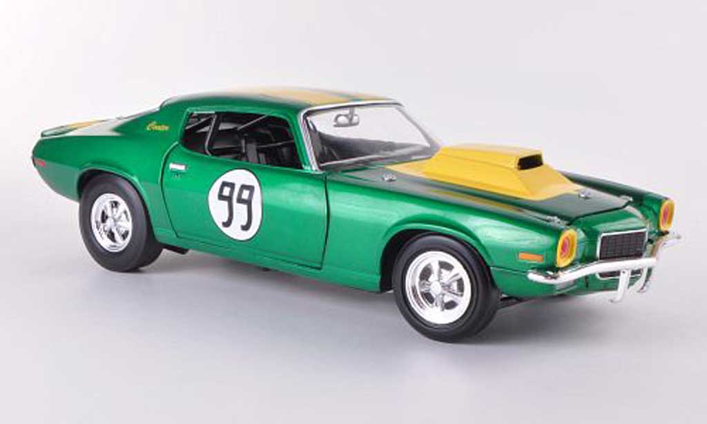 Chevrolet Camaro Z28 1/18 Johnny Lightning 350 No.99 The Dukes of Hazzard - Cooter's Chevy Camaro 1970 miniature