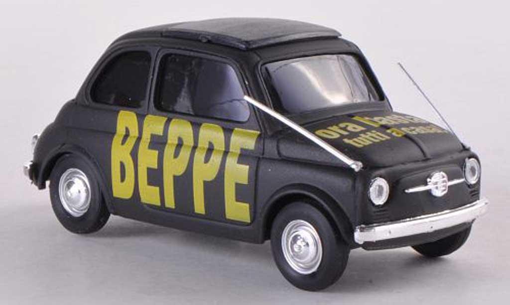 Fiat 500 Brums 1/43 Brumm BEBBE ora basta tutti a casa noire  miniature