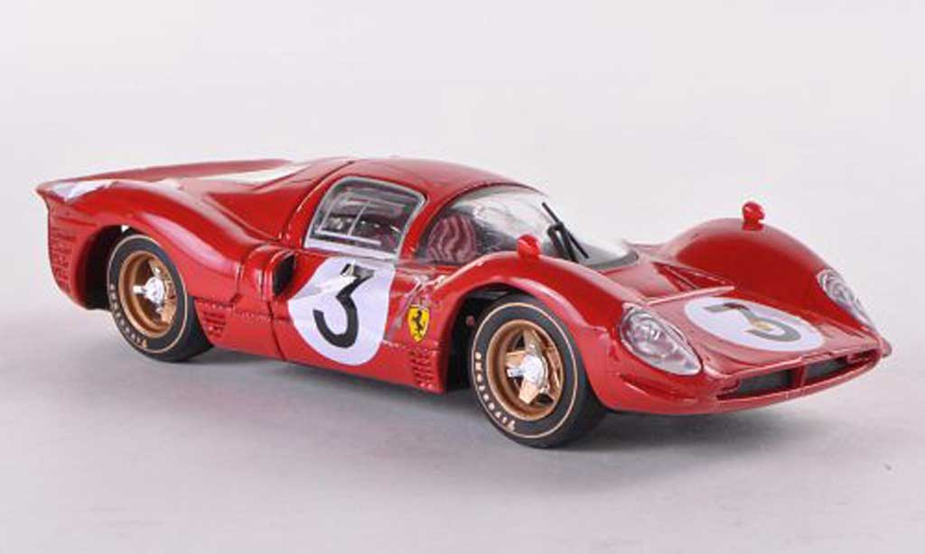 Ferrari 330 P4 1/43 Brumm Nr.3 Bandini-Amon 1000Km Monza 1967 miniature