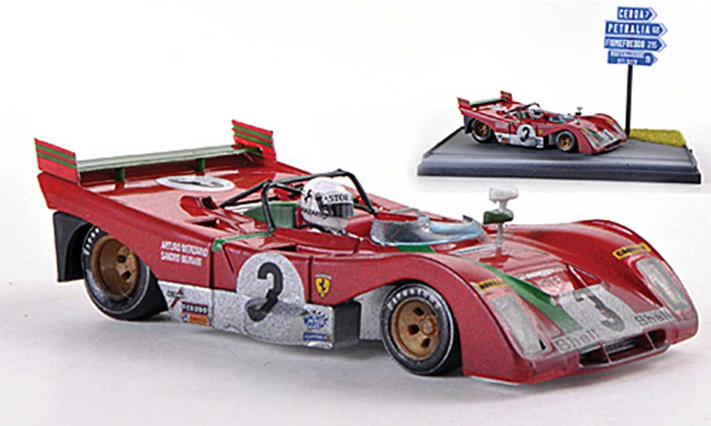 Ferrari 321 1/43 Brumm PB No.3 Targa Florio 1972 A.Merzario / S.Munari miniature