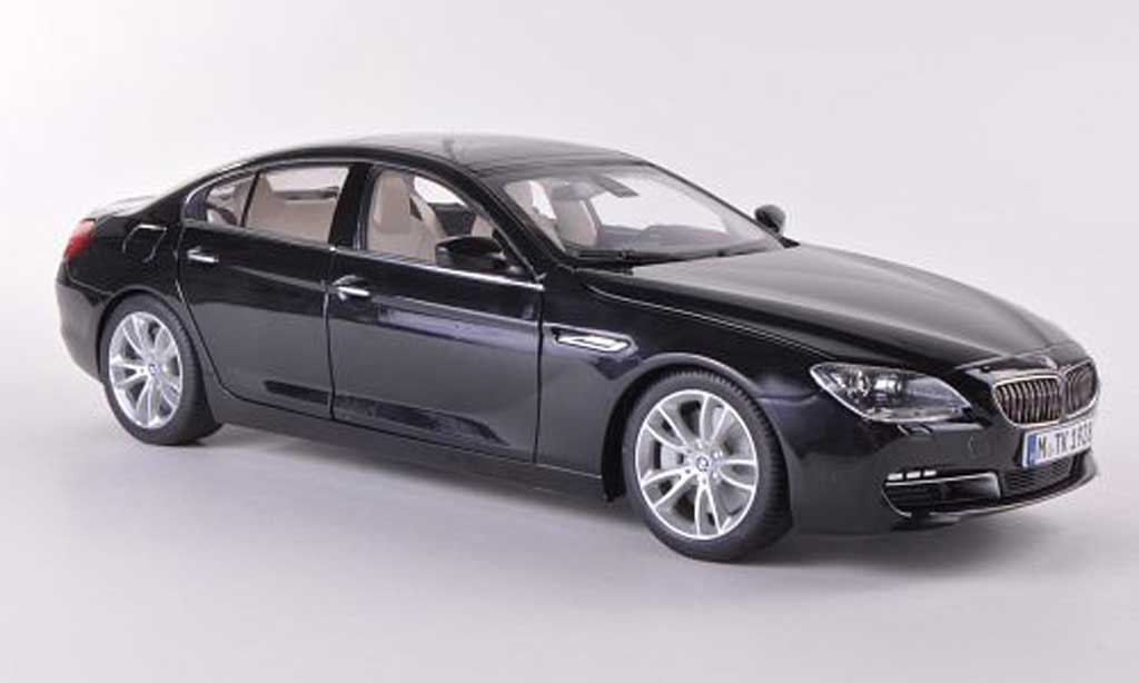 Bmw 650 F06 1/18 Paragon i Gran Coupe black 2012 diecast