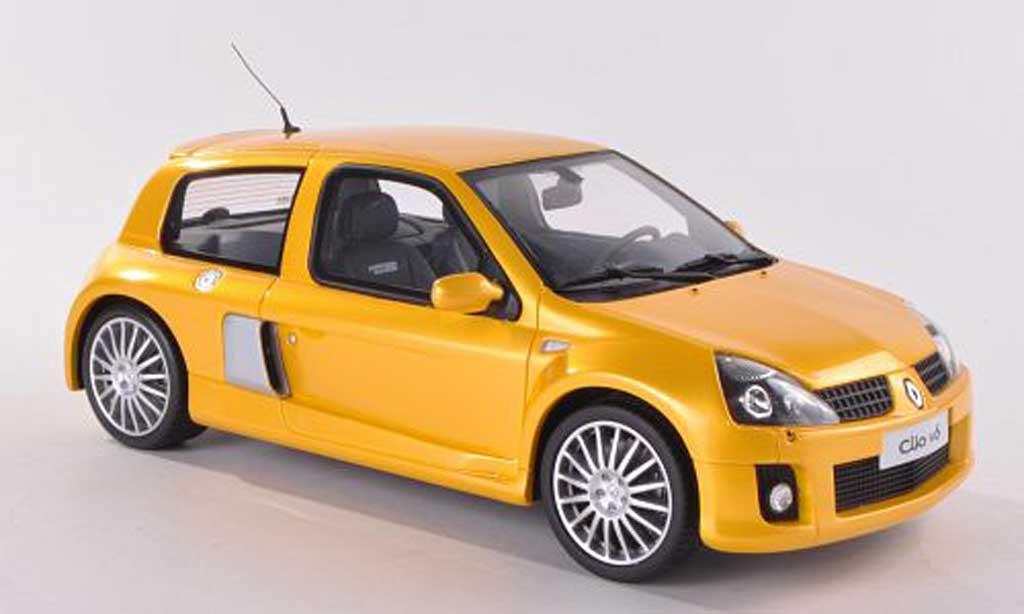 Renault Clio V6 1/18 Ottomobile Phase 2 jaune miniature